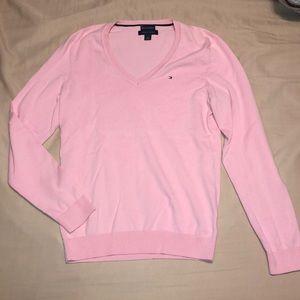 Tommy Hilfiger light pink v-neck sweater
